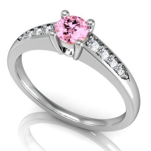 56d8e18428 Arany eljegyzési gyűrű Pink Zafír és Gyémánt kővel (BRK-145) (brk-145)